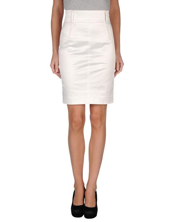 白色 CLASS ROBERTO CAVALLI 及膝半裙