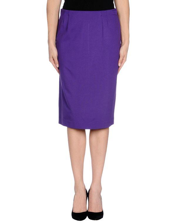 紫色 M MISSONI 及膝半裙