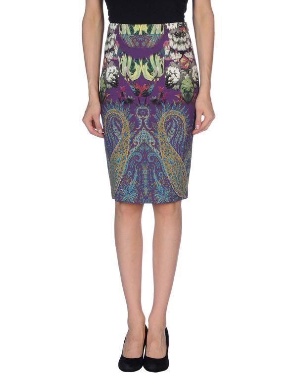 紫色 ETRO 及膝半裙