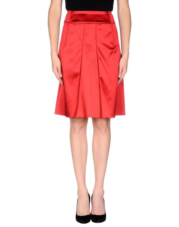 红色 DOLCE & GABBANA 及膝半裙
