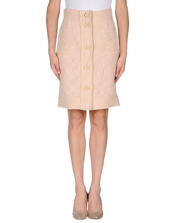 粉红色 M MISSONI 及膝半裙
