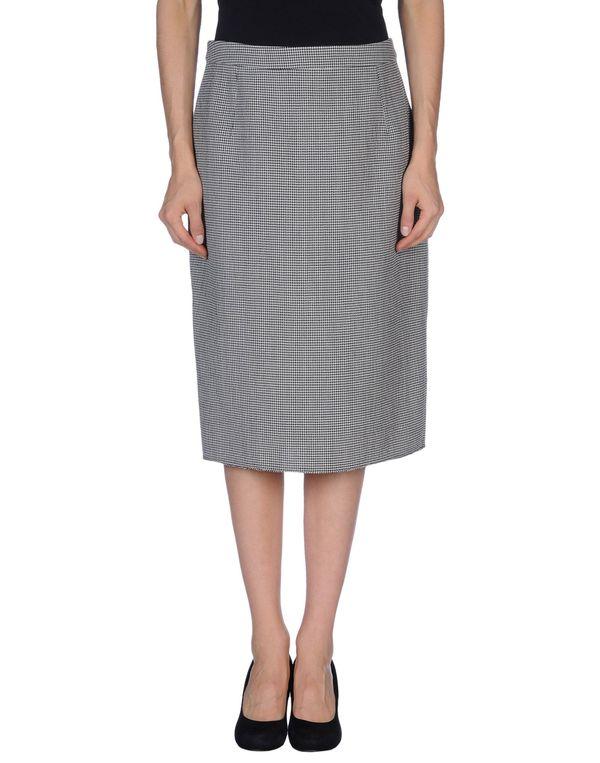 灰色 LANVIN 及膝半裙