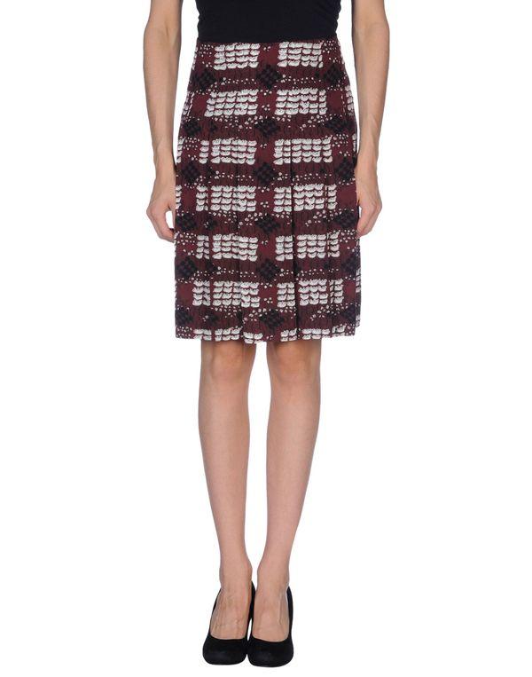 深紫 MARNI 及膝半裙