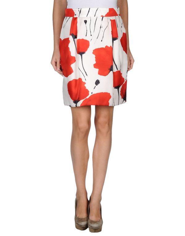红色 BLUGIRL BLUMARINE 及膝半裙