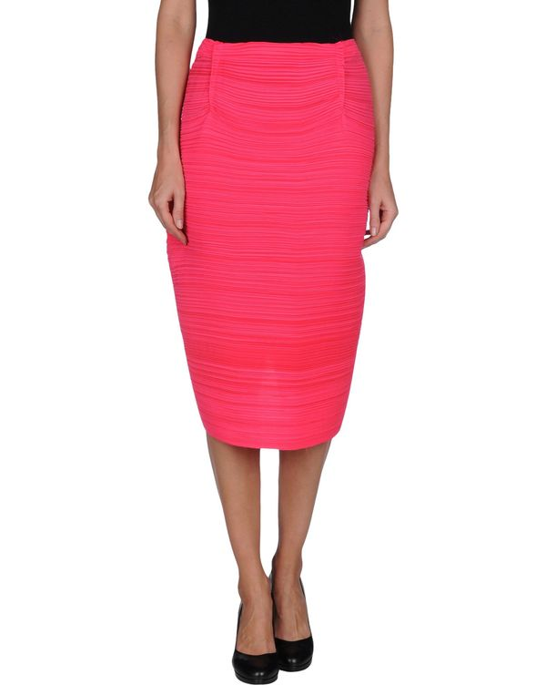 玫红色 LANVIN 半长裙