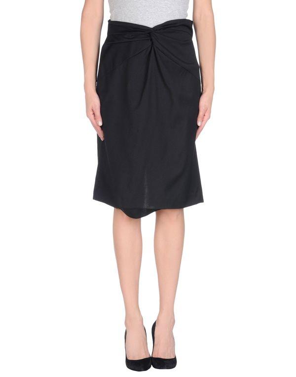 黑色 PAOLA FRANI 及膝半裙