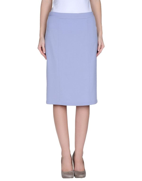 丁香紫 ARMANI COLLEZIONI 及膝半裙
