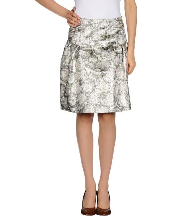 灰色 BURBERRY LONDON 及膝半裙