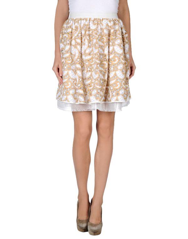 沙色 MSGM 及膝半裙
