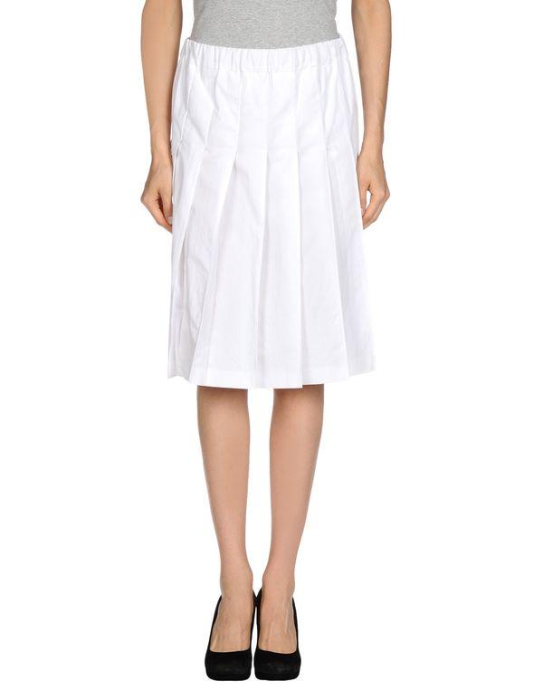 白色 MARNI 及膝半裙