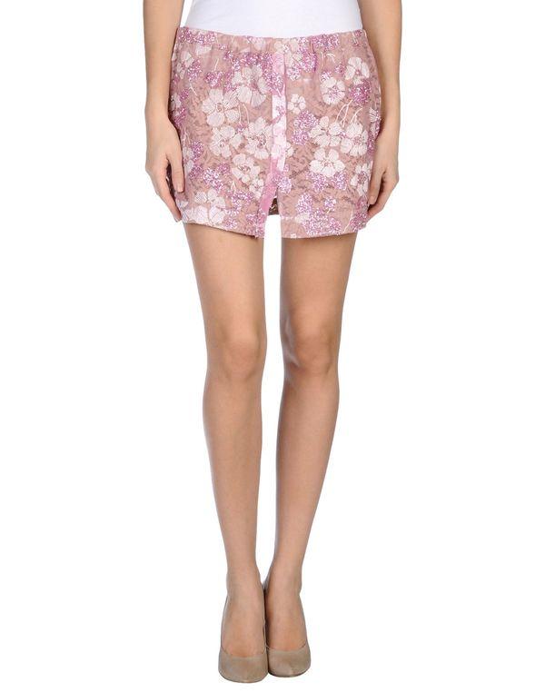 粉红色 N° 21 超短裙