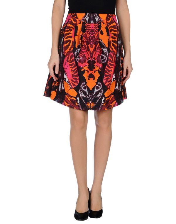 橙色 MCQ ALEXANDER MCQUEEN 及膝半裙