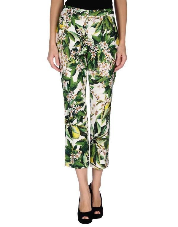 绿色 DOLCE & GABBANA 裤装