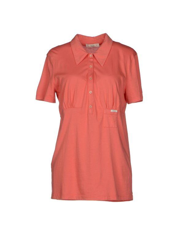 粉红色 PRADA Polo衫