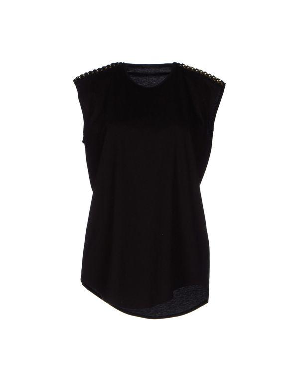 黑色 BALMAIN T-shirt