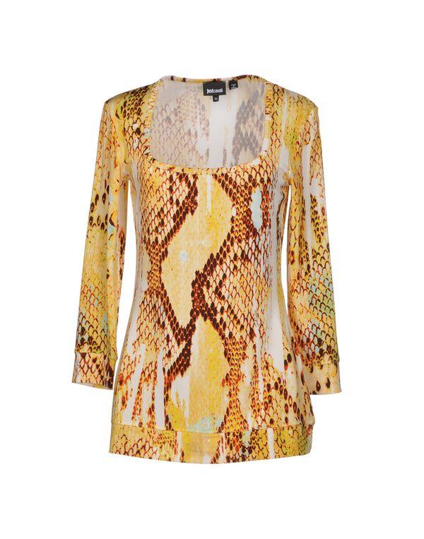 黄色 JUST CAVALLI T-shirt