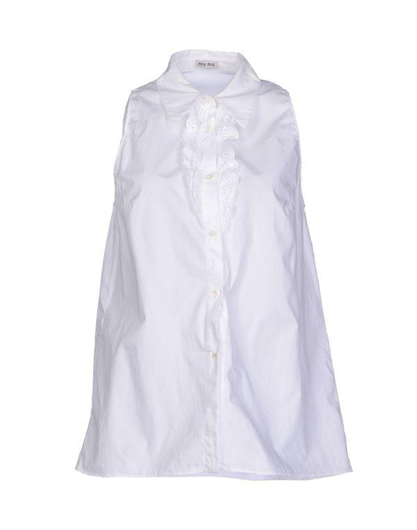 白色 MIU MIU Shirt
