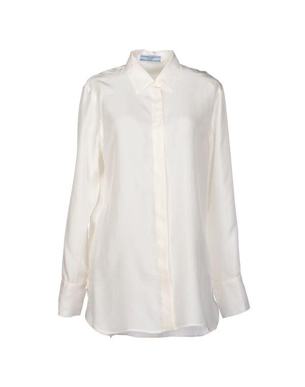 象牙白 PRADA Shirt