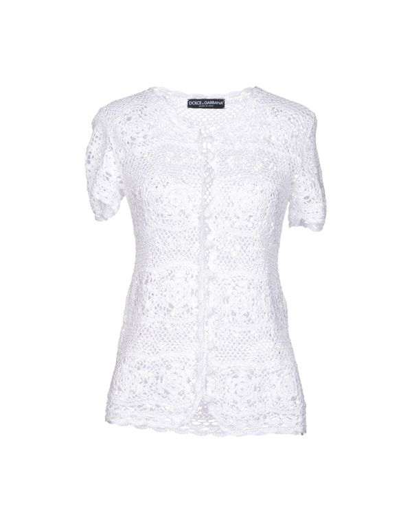 白色 DOLCE & GABBANA 针织开衫