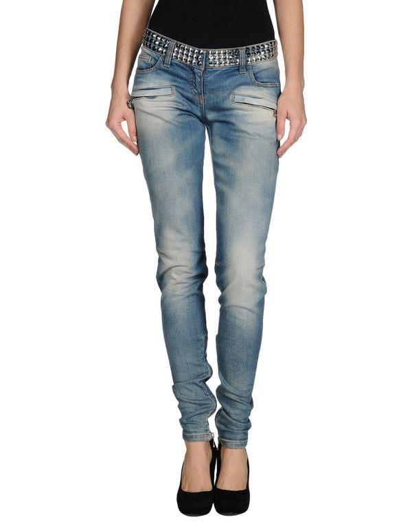 蓝色 BALMAIN 牛仔裤