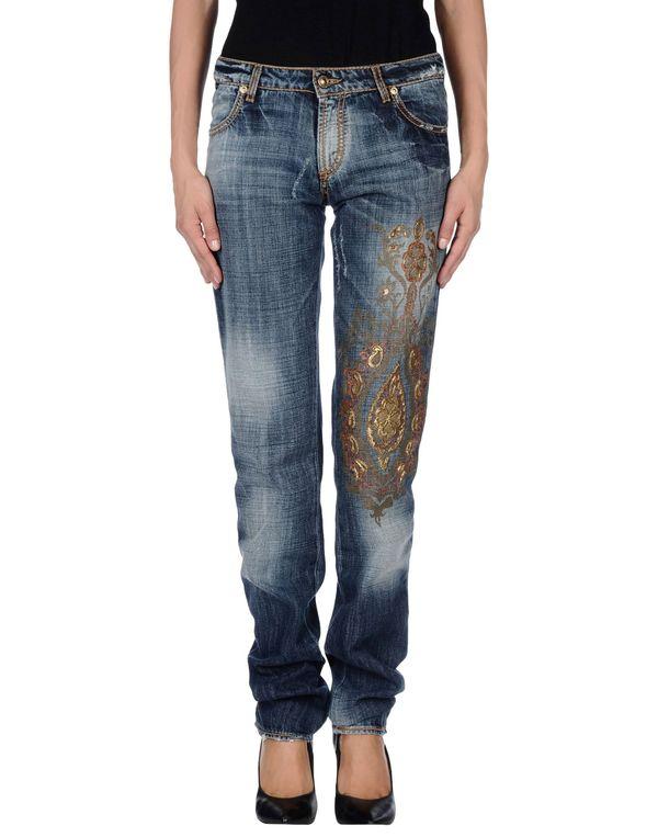 蓝色 JUST CAVALLI 牛仔裤