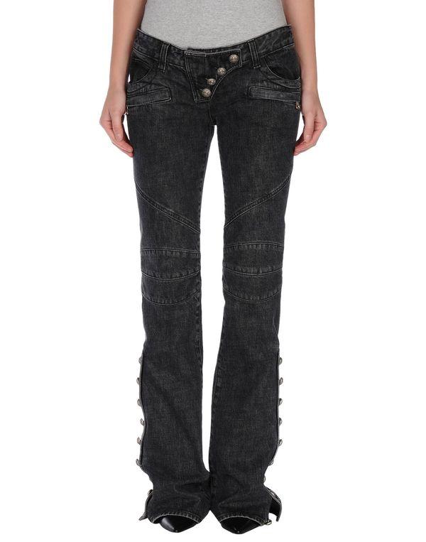 黑色 BALMAIN 牛仔裤