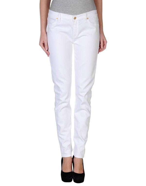 白色 7 FOR ALL MANKIND 牛仔裤