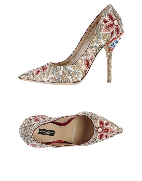 波尔多红 DOLCE & GABBANA 高跟鞋