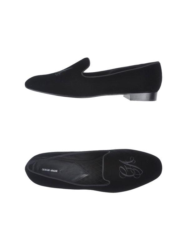 黑色 GIORGIO ARMANI 船鞋