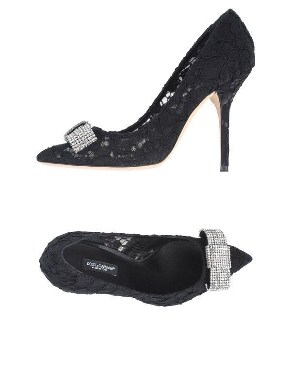 黑色 DOLCE & GABBANA 高跟鞋