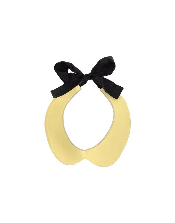 黄色 JIL SANDER NAVY 领部装饰
