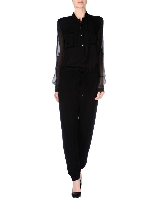 黑色 ELIE TAHARI 连身长裤