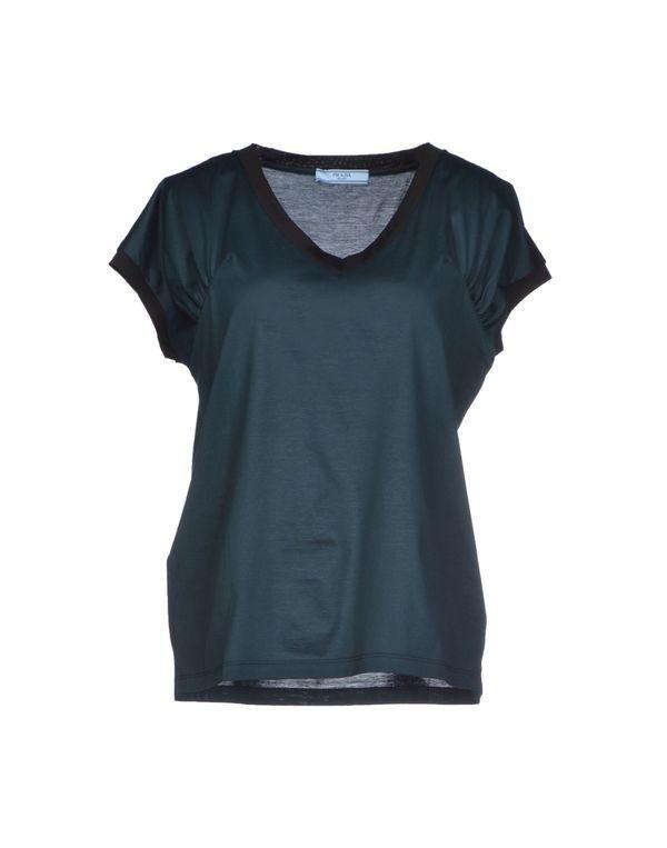 深绿色 PRADA T-shirt