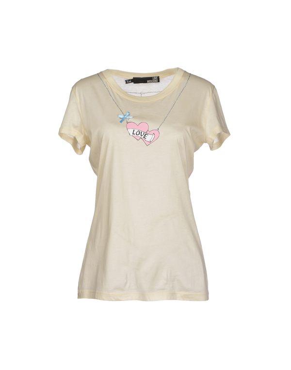 米色 LOVE MOSCHINO T-shirt