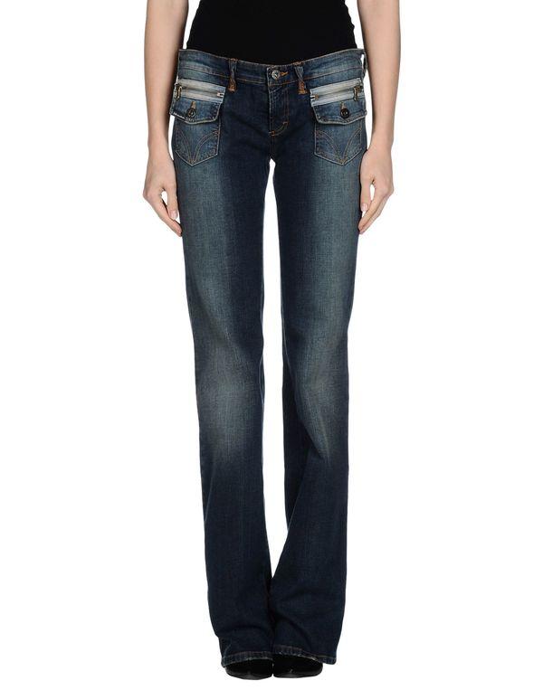 蓝色 D&G 牛仔裤