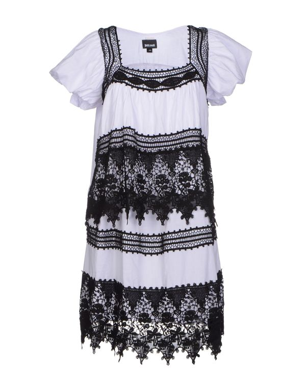 白色 JUST CAVALLI 短款连衣裙