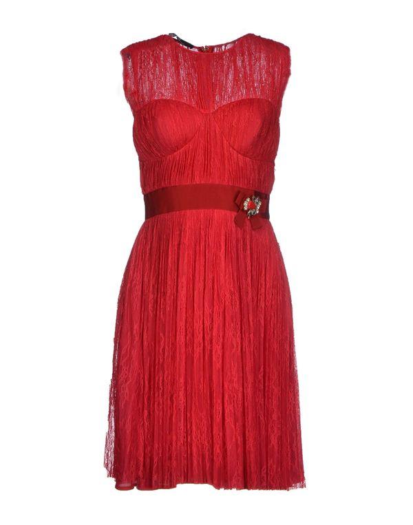 玫红色 ELISABETTA FRANCHI 及膝连衣裙