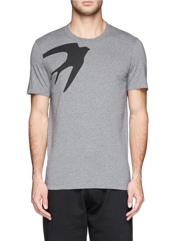 燕子图案纯棉T恤