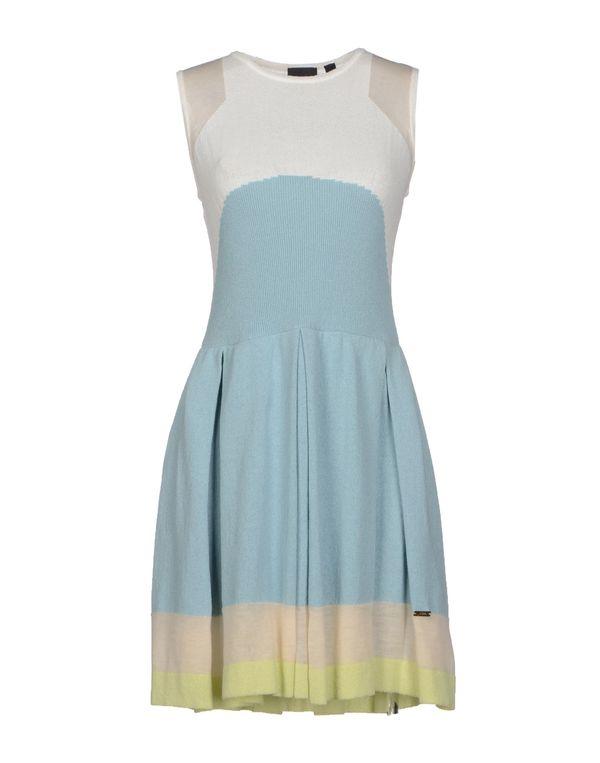 粉蓝色 JUST CAVALLI 短款连衣裙