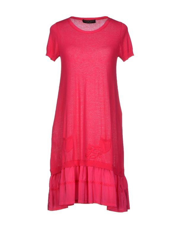 玫红色 TWIN-SET SIMONA BARBIERI 短款连衣裙