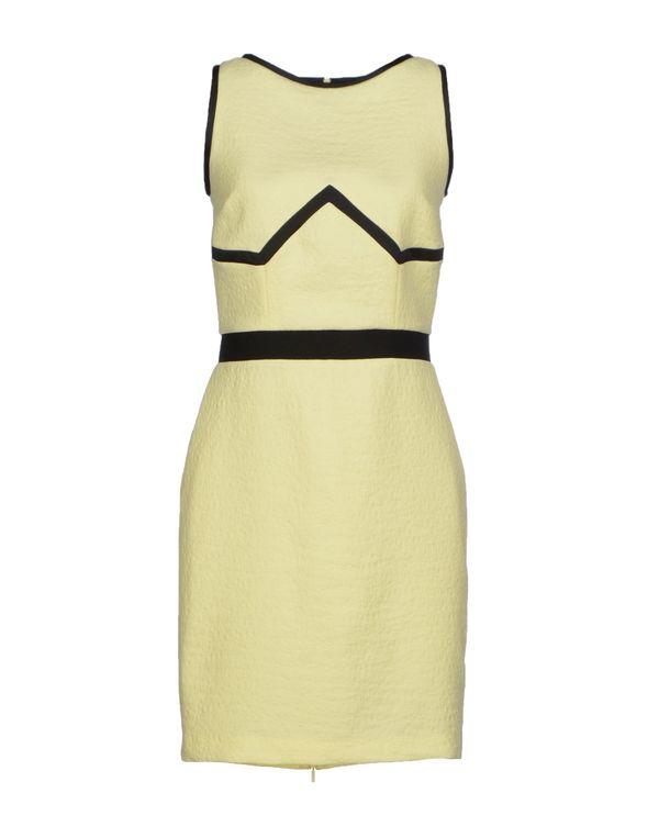 浅黄色 PINKO 短款连衣裙