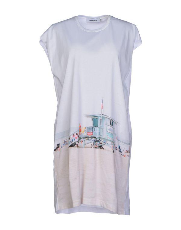 白色 MARIOS 短款连衣裙