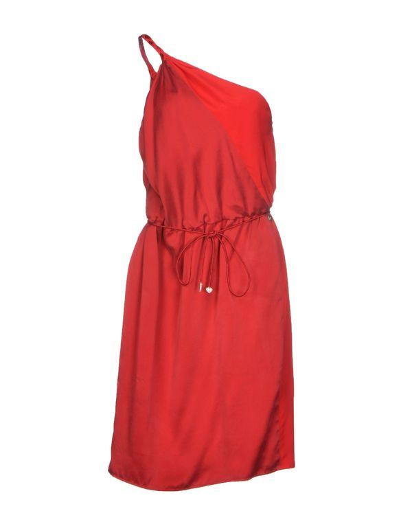 红色 LIU •JO 及膝连衣裙