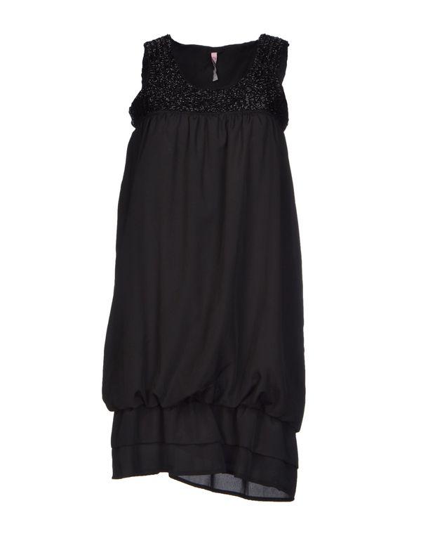黑色 SCEE BY TWIN-SET 短款连衣裙