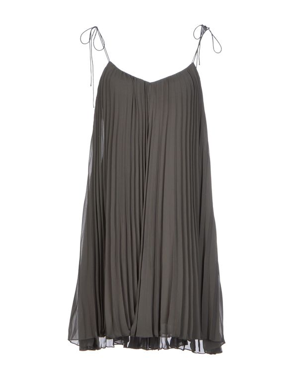 灰色 HALSTON HERITAGE 短款连衣裙