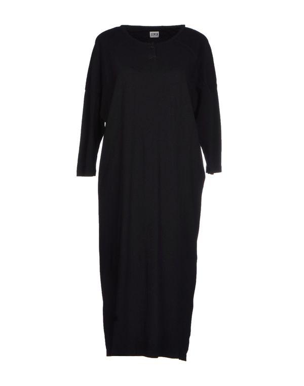 黑色 EDWIN 及膝连衣裙