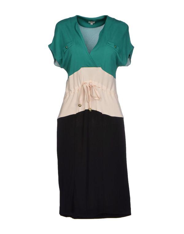 绿色 HOSS INTROPIA 及膝连衣裙