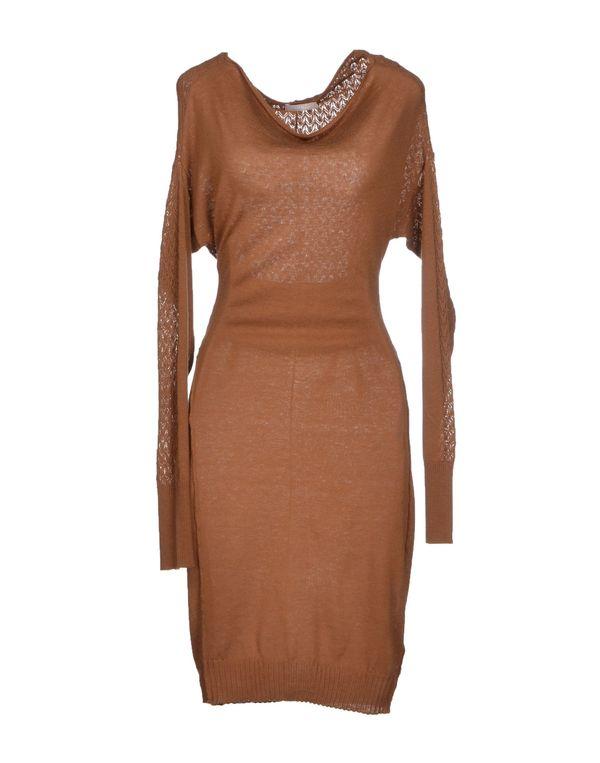 棕色 PINKO 及膝连衣裙