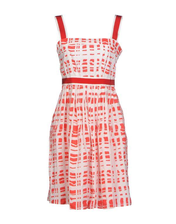 红色 TARA JARMON 短款连衣裙