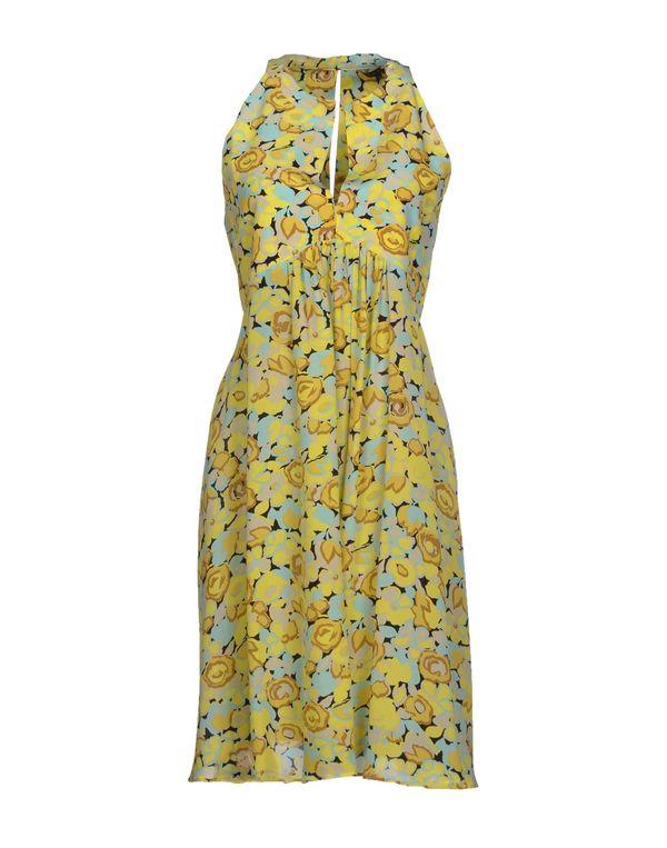 黄色 TARA JARMON 短款连衣裙